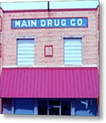 Main Drug Company Metal Print