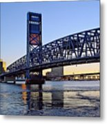 Main Street Bridge At Sunset Metal Print