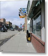Main Street In Red Lodge Metal Print