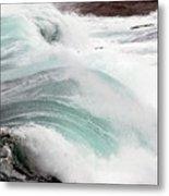 Maine Coast Storm Waves 3 Of 3 Metal Print