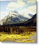 Majestic Mount Rundle Metal Print