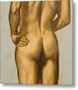 Male Nude Self Portrait By Victor Herman Metal Print