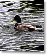 Mallard Duck - Fractal Metal Print
