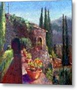 Mallorcan Monastery Metal Print by Shirley Leswick