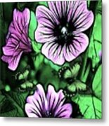 Malva Flowers Metal Print