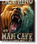 Man Cave Metal Print by JQ Licensing