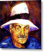 Man In The Panama Hat Metal Print