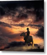Man On Horseback Metal Print