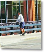 Man On The Bridge Metal Print