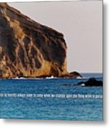 Manana Rabbit Island Quote Metal Print