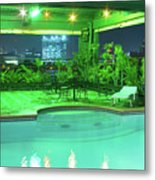 Mango Park Hotel Roof Top Pool Metal Print