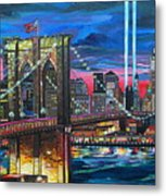 Manhattan Kinda Night Metal Print