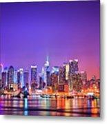 Manhattan Lights Metal Print by Matthias Haker Photography