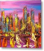 Manhattan Purple By Mark Kazav Metal Print