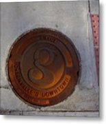 Manhole I Metal Print