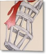 Mannequin With Red Tie Metal Print