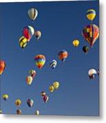 Many Vividly Colored Hot Air Balloons Metal Print