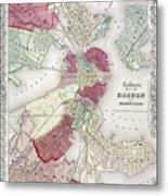 Map: Boston, 1865 Metal Print