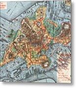 Map: Boston, C1880 Metal Print