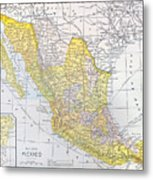 Map: Mexico Metal Print