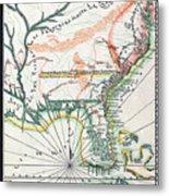 Map: North America, 1742 Metal Print