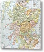 Map: Scotland Metal Print