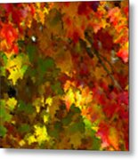 Maple Abstract Metal Print