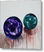 Marbles Of My Reflection Metal Print