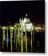 Maria Della Salute In Venice At Night Metal Print