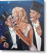 Marilyn Monroe Marries Charlie Mccarthy Metal Print