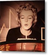 Marilyn Over The Red Carpet Metal Print