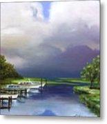 Marina On The Intracoastal Waterway  South Carolina Metal Print