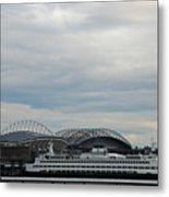 Mariners Seahawks And Ferry Metal Print
