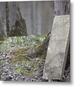 Marker Chained To Tree Metal Print
