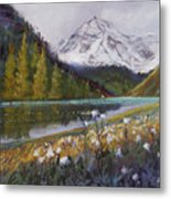 Maroon Lake Metal Print