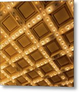 Marquee Lights On Theater Ceiling Metal Print