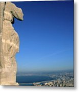 Marseille Seen From The Basilica Of Notre Dame De La Garde Metal Print
