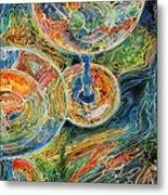Martini Bar A Fine Art Batik By M Baldwin Metal Print