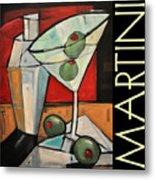 Martini Poster Metal Print