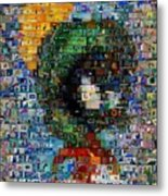 Marvin The Martian Mosaic Metal Print