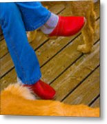 Marys Red Shoes Metal Print