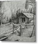 Ma's Barn And Truck Metal Print