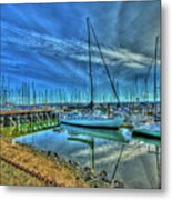 Masts Without Sails Metal Print by Dale Stillman