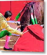 Matador On Knees Metal Print