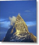 Matterhorn Mountain At Sunrise, Close Up Metal Print