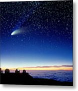 Mauna Kea Telescopes Metal Print by D Nunuk and Photo Researchers