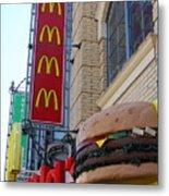 Mcdonalds Hamburger Restaurant . Fishermans Wharf . San Francisco California . 7d14249 Metal Print