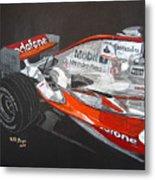 Mclaren F1 Alonso Metal Print
