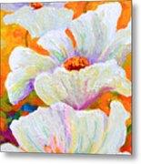 Meadow Angels - White Poppies Metal Print