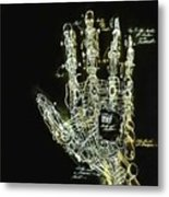Mechanical Hand Metal Print